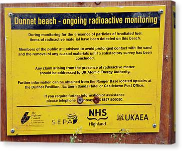 Dunnet Beach Radiation Monitoring Canvas Print by Public Health England
