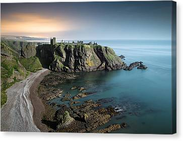 Dunnottar By Moonlight Canvas Print by Dave Bowman