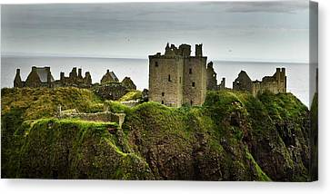 Canvas Print featuring the photograph Dunnottar Castle Scotland by Sally Ross