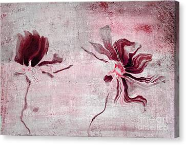 Duo Daisies - 43t3red Canvas Print by Variance Collections