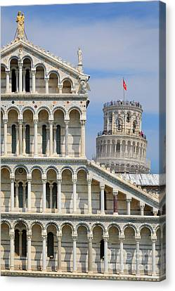Dei Canvas Print - Duomo And Campanile by Inge Johnsson