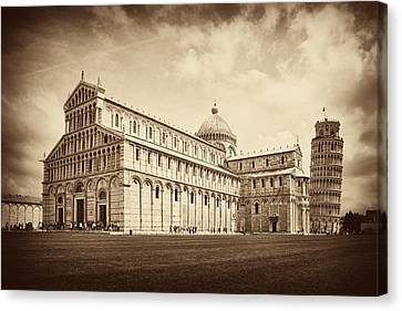 Canvas Print featuring the photograph Duomo And Tower by Hugh Smith