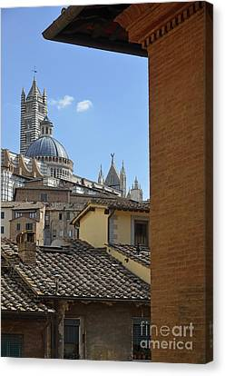 Duomo Cathedral And Red Tiled Roofs Canvas Print by Sami Sarkis