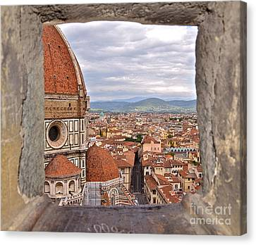 Duomo From Campanile Tower Canvas Print