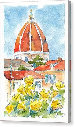 Duomo From Il Villino Canvas Print by Pat Katz