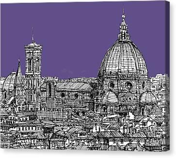 Duomo In Lilac Canvas Print by Adendorff Design