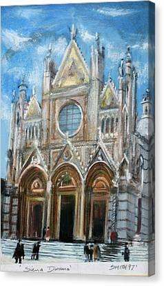 Duomo Sienna Canvas Print by Tom Smith