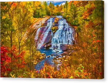 Dupont Forest High Falls In Autumn Canvas Print