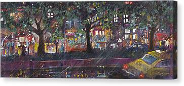 Dupont In The Rain Canvas Print by Leela Payne
