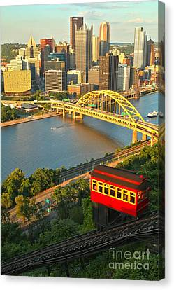 Duquesne Incline Portrait Canvas Print by Adam Jewell