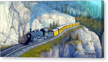 Canvas Print - Durango Flyer by Tanja Ware