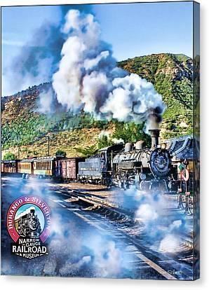 Tom Schmidt Canvas Print - Durango Steam Locomotive by Tom Schmidt