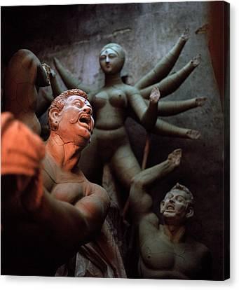 Durga And The Dream Canvas Print by Shaun Higson