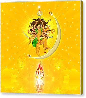 Durga Canvas Print by Harald Dastis