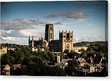 Canvas Print featuring the photograph Durham Cathedral by Matt Malloy