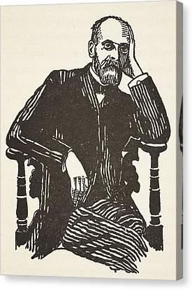 Half-length Canvas Print - Emile Durkheim by French School