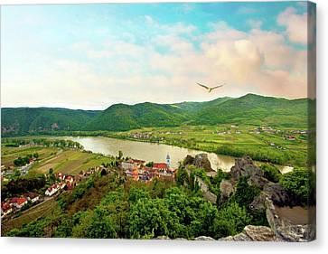 Durnstein, Austria, Wachau Valley Canvas Print by Miva Stock
