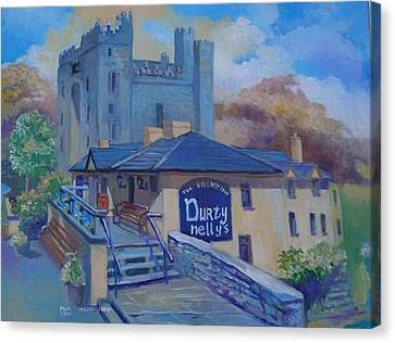 Durty Nellys And  Bunratty Castle Co Clare Ireland Canvas Print by Paul Weerasekera