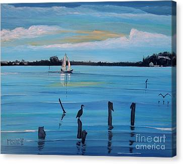 Dusk Approaching  Canvas Print by Marilyn  McNish