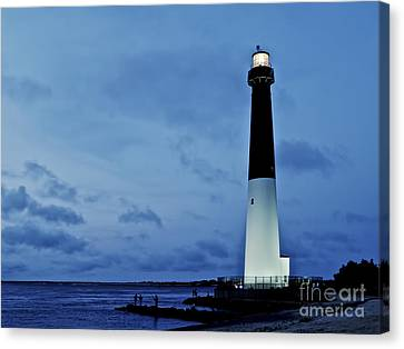 Dusk At Barnegat Lighthouse Canvas Print by Mark Miller