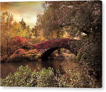 Canvas Print featuring the photograph Dusk At Gapstow by Jessica Jenney