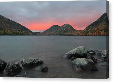 Maine Mountains Canvas Print - Dusk At Jordan Pond And The Bubbles by Juergen Roth