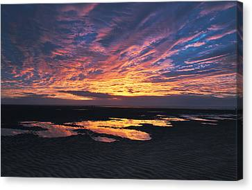 Dusk At The Beach Canvas Print