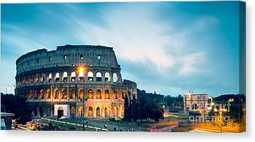 Dusk At The Colosseum Canvas Print