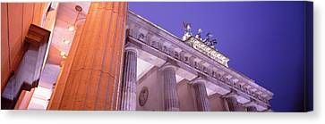 Dusk, Brandenburg Gate, Berlin, Germany Canvas Print