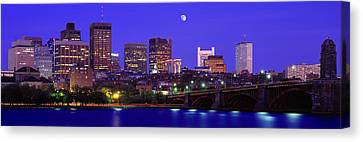 Boston Ma Canvas Print - Dusk Charles River Boston Ma Usa by Panoramic Images
