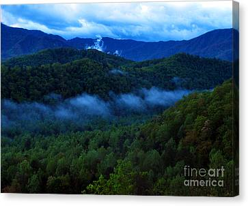 Dusk In The Smoky Mountains   Canvas Print by Nancy Mueller