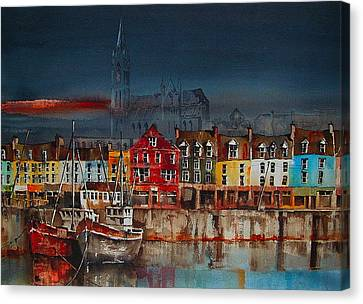 Dusk On Cobh Harbour Cork Canvas Print
