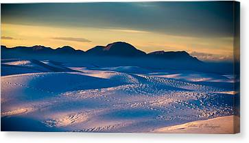 Dusk On Planet Earth Canvas Print by Allen Biedrzycki