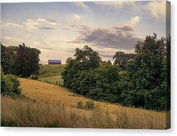 Dusk On The Farm Canvas Print by Heather Applegate