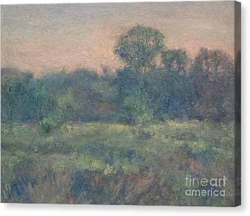 Dusk On The Meadow Canvas Print by Gregory Arnett