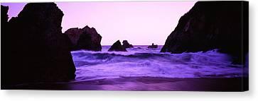 Dusk On The Santa Cruz Coastline Canvas Print
