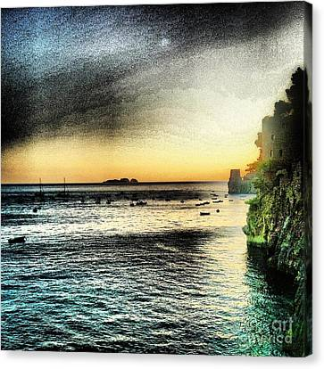 Dusk Settles In A Dream Canvas Print by H Hoffman