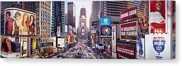 Dusk, Times Square, Nyc, New York City Canvas Print by Panoramic Images