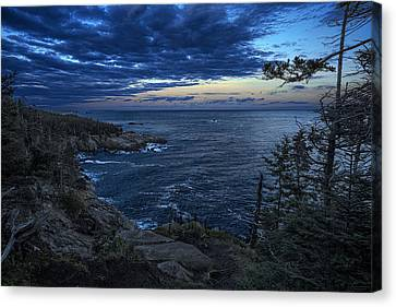 Dusk Vista At Quoddy Head State Park Canvas Print by Marty Saccone