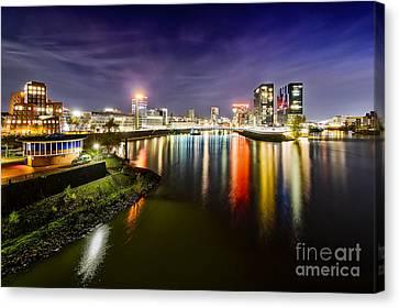 Dusseldorf Media Harbor Skyline Canvas Print by Daniel Heine