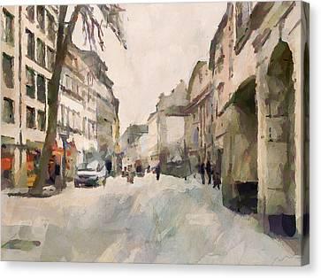Dusseldorf Old Town Street 1 Canvas Print by Yury Malkov