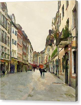 Dusseldorf Old Town Street 2 Canvas Print by Yury Malkov