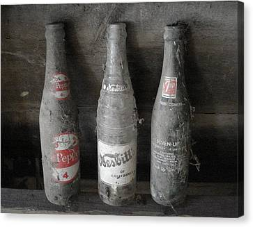 Dust On The Bottles Canvas Print