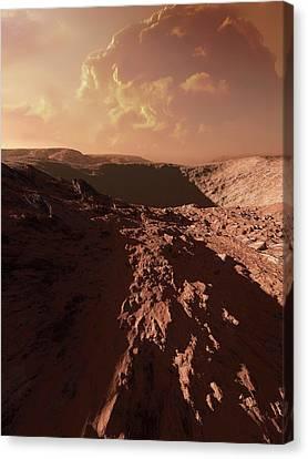 Dust Storm On Mars Canvas Print by Detlev Van Ravenswaay