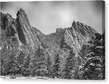 Dusted Flatiron In Black And White  Canvas Print by James BO  Insogna