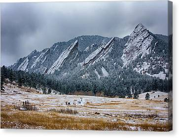 Dusted Flatirons Chautauqua Park Boulder Colorado Canvas Print