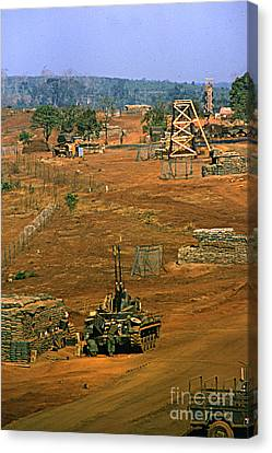 Duster Of 4/60th Artillery At  Lz Oasis Vietnam 1969 Canvas Print by California Views Mr Pat Hathaway Archives