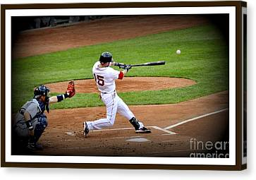 Dustin Pedroia 2 Canvas Print