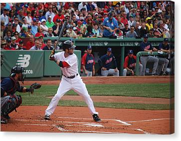 Dustin Pedroia Of The Red Sox Canvas Print