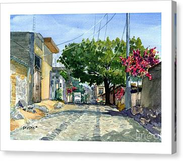 Dusty Backstreet In Ajijic Canvas Print
